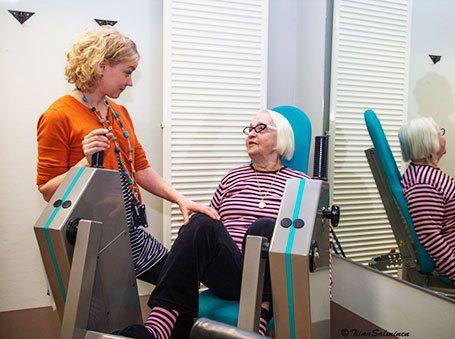Kuntosali Woimalassa on maksutonta fysioterapeutin ohjausta kerran viikossa